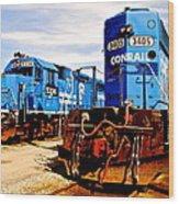 Conrail Choo Choo  Wood Print
