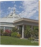 Conservatory At The Huntington Library Wood Print