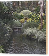 Conservatory In Autumn Wood Print