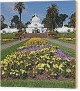Conservatory Of Flowers Wood Print