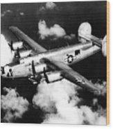 Consolidated B-24 Liberator Heavy Bomber Wood Print