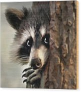 Conspicuous Bandit Wood Print by Christina Rollo