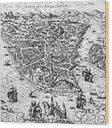 Constantinople, 1576 Wood Print