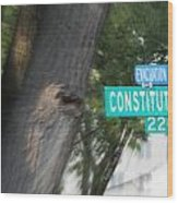 Constitution Ave 2200 Wood Print