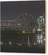 Construction Continues On The Oakland Bay Bridge Wood Print