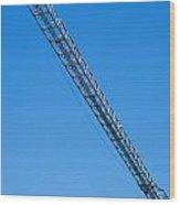 Construction Crane 01 Wood Print by Antony McAulay