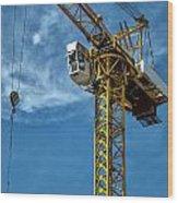 Construction Crane Asia Wood Print