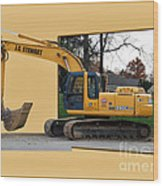 Construction Equipment 01 Wood Print