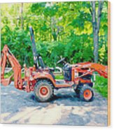 Construction Machinery Equipment 1 Wood Print