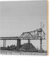 Construction Of The Eastern Span San Francisco Oakland Bay Bridge June 29 1930 Wood Print