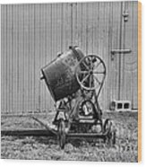 Construction - Vintage Cement Mixer Wood Print