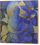 Contemplation - Buddha Meditates Wood Print by Susanne Clark