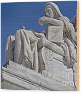 Contemplation Of Justice 1 Wood Print
