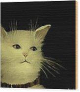 Contemplative Cat   No.1 Wood Print