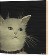 Contemplative Cat   No.2 Wood Print
