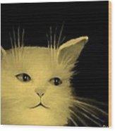 Contemplative Cat   No.3 Wood Print