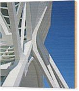 Contemporary Architecture In Valencia Wood Print
