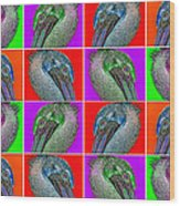 Contemporary Pelicans II Wood Print