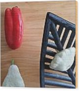 Contemporary Vegetables Wood Print