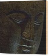 Contented Buddha Wood Print