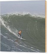 Contestant In The 2010 Mavericks Surf Contest Wood Print