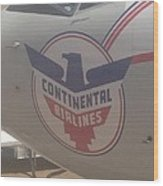 Continental  Airlines Wood Print