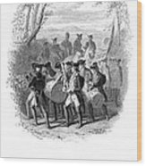 Continental Army Band Wood Print