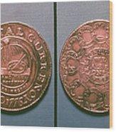 Continental Dollar, 1776 Wood Print