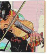 Contorno Fiddle II Wood Print