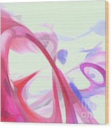 Contortion Pastel Abstract  Wood Print