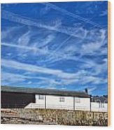 Contrails Over The Cobb Wood Print