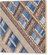 Contrasts - Period Architecture Of Asheville North Carolina Wood Print by Mark E Tisdale
