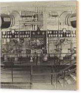 Control Board Engine Room Queen Mary Ocean Liner Long Beach Ca Heirloom Wood Print