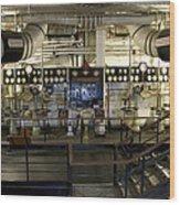Control Board Engine Room Queen Mary Ocean Liner Long Beach Ca Wood Print