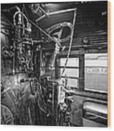 Controls Of Steam Locomotive No. 611 C. 1950 Wood Print