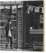 Convenience Store Wood Print