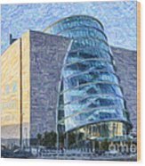 Convention Centre Dublin Republic Of Ireland Wood Print