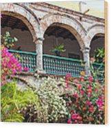 Convento De La Popa Cartagena Wood Print