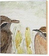 Conversation In The Crocus Wood Print