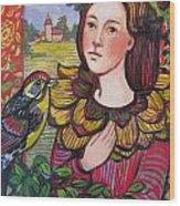Conversation With Bird Wood Print