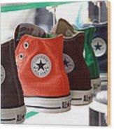 Converse Star Sneakers Wood Print