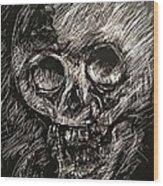 Convulsed Memento Mori  Wood Print
