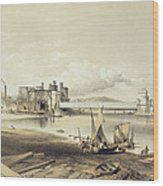 Conway Bridge, Construction Of Second Wood Print