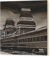 Conway Rail Station Wood Print