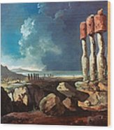 Cook: Easter Island, 1774 Wood Print
