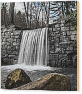 Cook Forest Waterfall Wood Print