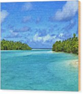 Cook Islands Lagoon Wood Print