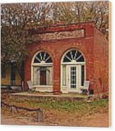 Cook Station Bank Wood Print by Marty Koch