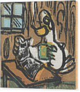 Cooked Goose Wood Print by Mathew Luebbert