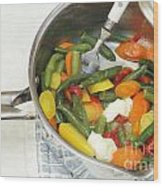 Cooked Mixed Vegetables Wood Print